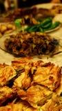 Πίτα σπανακιού και σαλάτα brocoli Στοκ Εικόνες