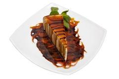 Πίτα στη γλυκιά σάλτσα Στοκ Εικόνα