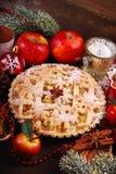 Πίτα της Apple για τα Χριστούγεννα Στοκ Φωτογραφίες