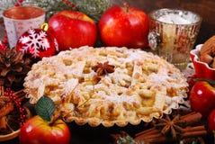 Πίτα της Apple για τα Χριστούγεννα Στοκ Εικόνες