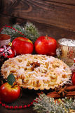 Πίτα της Apple για τα Χριστούγεννα Στοκ Εικόνα