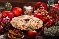 Πίτα της Apple για τα Χριστούγεννα Στοκ Φωτογραφία