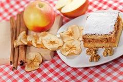 Πίτα της Apple - κέικ μήλων Στοκ Εικόνα