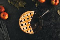 Πίτα της Apple και κεντρικός υπολογιστής κέικ Στοκ Φωτογραφία
