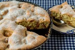 Πίτα της Apple και κούπα καφέ Στοκ Εικόνες
