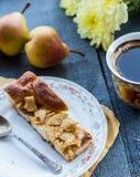 Πίτα της Apple με ένα φλιτζάνι του καφέ, πρόγευμα Στοκ Εικόνες