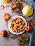 Πίτα της Apple με τα ξηρά τα βακκίνια Στοκ φωτογραφία με δικαίωμα ελεύθερης χρήσης
