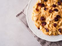 Πίτα της Apple με τα ξηρά τα βακκίνια Στοκ φωτογραφίες με δικαίωμα ελεύθερης χρήσης