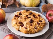 Πίτα της Apple με τα ξηρά τα βακκίνια Στοκ Φωτογραφία