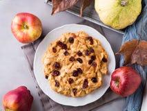 Πίτα της Apple με τα ξηρά τα βακκίνια Στοκ εικόνα με δικαίωμα ελεύθερης χρήσης