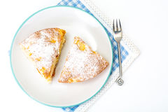 Πίτα της Apple με τα ξηρά βερίκοκα σε ένα άσπρο υπόβαθρο Στοκ εικόνα με δικαίωμα ελεύθερης χρήσης