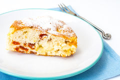 Πίτα της Apple με τα ξηρά βερίκοκα σε ένα άσπρο υπόβαθρο Στοκ φωτογραφία με δικαίωμα ελεύθερης χρήσης