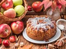 Πίτα της Apple με την κανέλα, καρδάμωμο, γλυκάνισο, κονιοποιημένη ζάχαρη Στοκ φωτογραφία με δικαίωμα ελεύθερης χρήσης