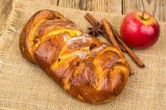 Πίτα της Apple με την κανέλα στην ημέρα των ευχαριστιών Στοκ εικόνα με δικαίωμα ελεύθερης χρήσης