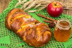 Πίτα της Apple με την κανέλα στην ημέρα των ευχαριστιών Στοκ εικόνες με δικαίωμα ελεύθερης χρήσης