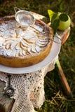 Πίτα της Apple με την πλήρωση κρέμας Στοκ φωτογραφία με δικαίωμα ελεύθερης χρήσης