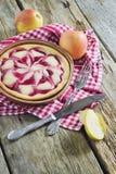 Πίτα της Apple με τη μαρμελάδα και τα φρέσκα μήλα Στοκ Φωτογραφίες