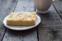 Πίτα της Apple με τον καφέ Στοκ Εικόνα
