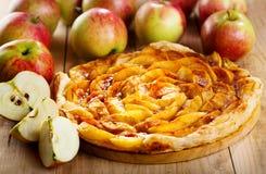 Πίτα της Apple με τους νωπούς καρπούς Στοκ εικόνα με δικαίωμα ελεύθερης χρήσης