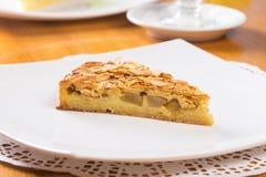 Πίτα της Apple με το αμύγδαλο Στοκ Φωτογραφίες