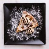 Πίτα της Apple με το παγωτό Στοκ φωτογραφίες με δικαίωμα ελεύθερης χρήσης