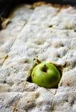 Πίτα της Apple με το πράσινο μήλο Στοκ Φωτογραφίες