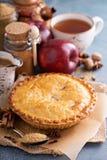 Πίτα της Apple με το σιρόπι και την κανέλα καραμέλας Στοκ Εικόνες