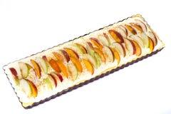 Πίτα της Apple με το τυρί και τα ροδάκινα εξοχικών σπιτιών Στοκ φωτογραφία με δικαίωμα ελεύθερης χρήσης