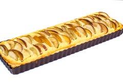 Πίτα της Apple με το τυρί και τα ροδάκινα εξοχικών σπιτιών Στοκ Φωτογραφίες