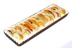 Πίτα της Apple με το τυρί και τα ροδάκινα εξοχικών σπιτιών Στοκ εικόνα με δικαίωμα ελεύθερης χρήσης