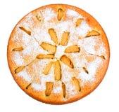 Πίτα της Apple που απομονώνεται στο άσπρο υπόβαθρο Στοκ φωτογραφία με δικαίωμα ελεύθερης χρήσης