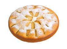 Πίτα της Apple που απομονώνεται στο άσπρο υπόβαθρο Στοκ Εικόνα
