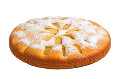 Πίτα της Apple που απομονώνεται στο άσπρο υπόβαθρο Στοκ εικόνες με δικαίωμα ελεύθερης χρήσης