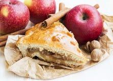 Πίτα της Apple που ψήνεται πρόσφατα με τα μήλα και την κανέλα Στοκ φωτογραφίες με δικαίωμα ελεύθερης χρήσης