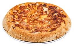 Πίτα της Apple (Σαρλόττα) στο πιάτο που απομονώνεται Στοκ εικόνα με δικαίωμα ελεύθερης χρήσης