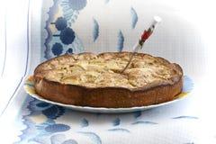 Πίτα της Apple σε ένα κύπελλο Στοκ Φωτογραφία