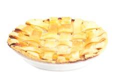 Πίτα της Apple σε ένα πιάτο Στοκ φωτογραφία με δικαίωμα ελεύθερης χρήσης