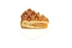 Πίτα της Apple σε ένα πιάτο Στοκ Εικόνα