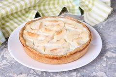 Πίτα της Apple σε ένα πιάτο Στοκ Φωτογραφία