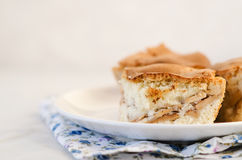 Πίτα της Apple στο πιάτο Στοκ Φωτογραφίες