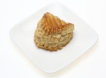 Πίτα της Apple στο πιάτο Στοκ εικόνες με δικαίωμα ελεύθερης χρήσης