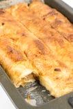 Πίτα της Apple στο φούρνο που απομονώνεται πέρα από το άσπρο υπόβαθρο Στοκ εικόνες με δικαίωμα ελεύθερης χρήσης
