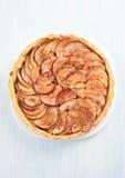 Πίτα της Apple, τοπ άποψη Στοκ φωτογραφίες με δικαίωμα ελεύθερης χρήσης