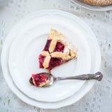 Πίτα της Apple, φραουλών και δικτυωτού πλέγματος του Blackberry Στοκ Φωτογραφίες