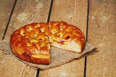 Πίτα της Apple sackcloth Στοκ φωτογραφία με δικαίωμα ελεύθερης χρήσης