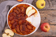 Πίτα της Apple, tarte tatin Στοκ Εικόνα