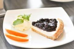 Πίτα τυριών βακκινίων, cheesecake βακκινίων Στοκ εικόνες με δικαίωμα ελεύθερης χρήσης