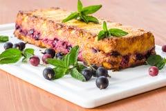 Πίτα τυριών εξοχικών σπιτιών με τα μούρα Στοκ εικόνα με δικαίωμα ελεύθερης χρήσης