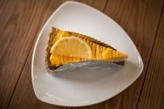 Πίτα τυριών λεμονιών Στοκ Εικόνες