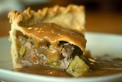 Πίτα χοιρινού κρέατος, μήλων και μηλίτη Στοκ φωτογραφία με δικαίωμα ελεύθερης χρήσης